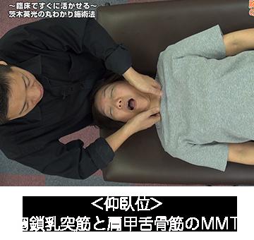 胸鎖乳突筋と肩甲舌骨筋之MMT